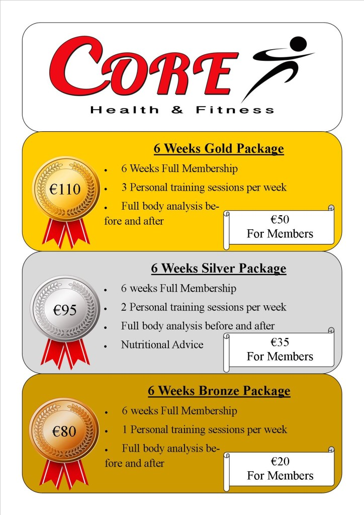 gold silver bronze personal training